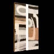 pareja cubismo blanco y negro